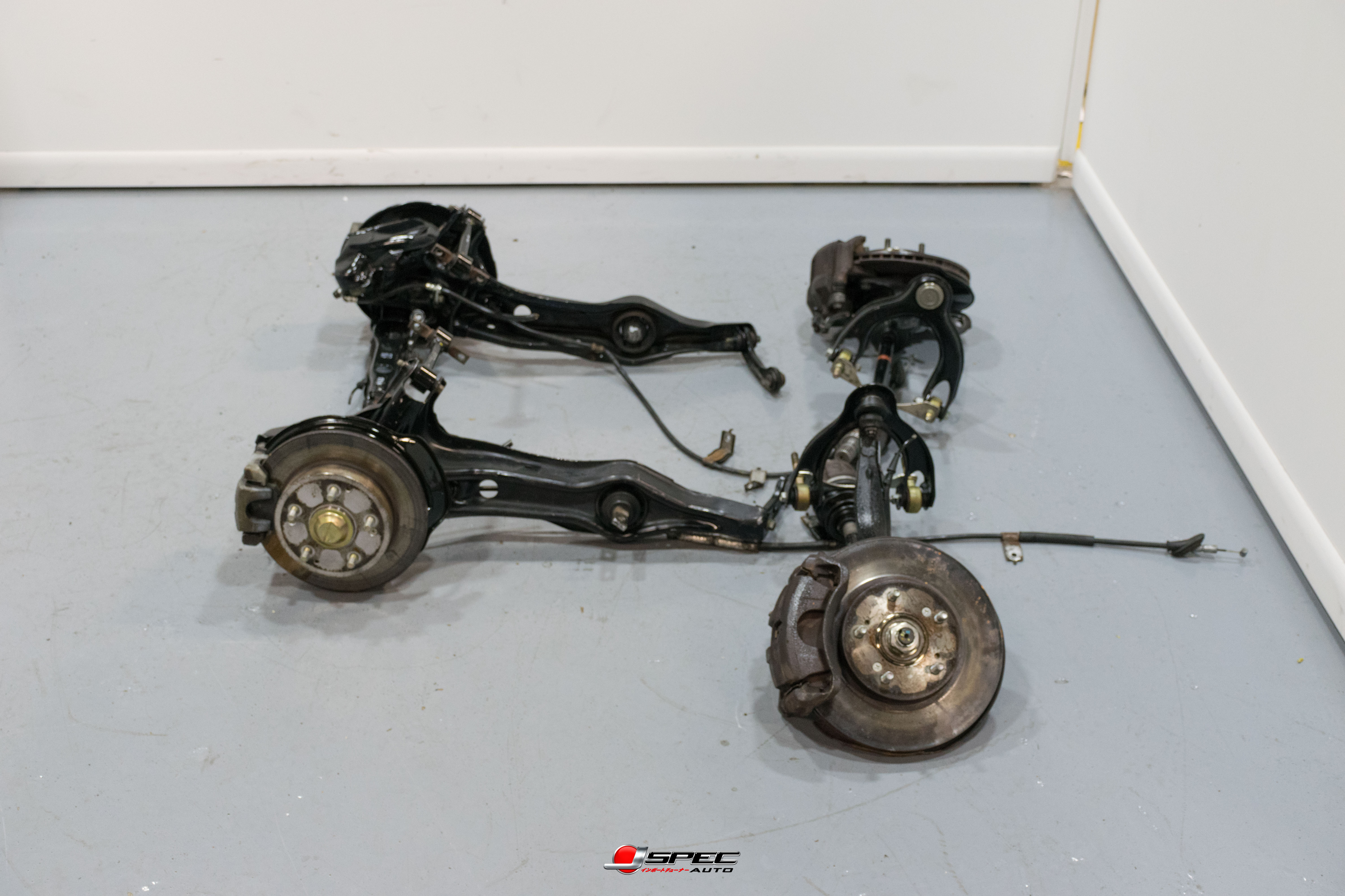 Used Jdm Acura Integra Type R Dc2 5 Lug Brake Conversion With 36mm Hubs And Axles Sample Pictures Brakes J Spec Auto Sports