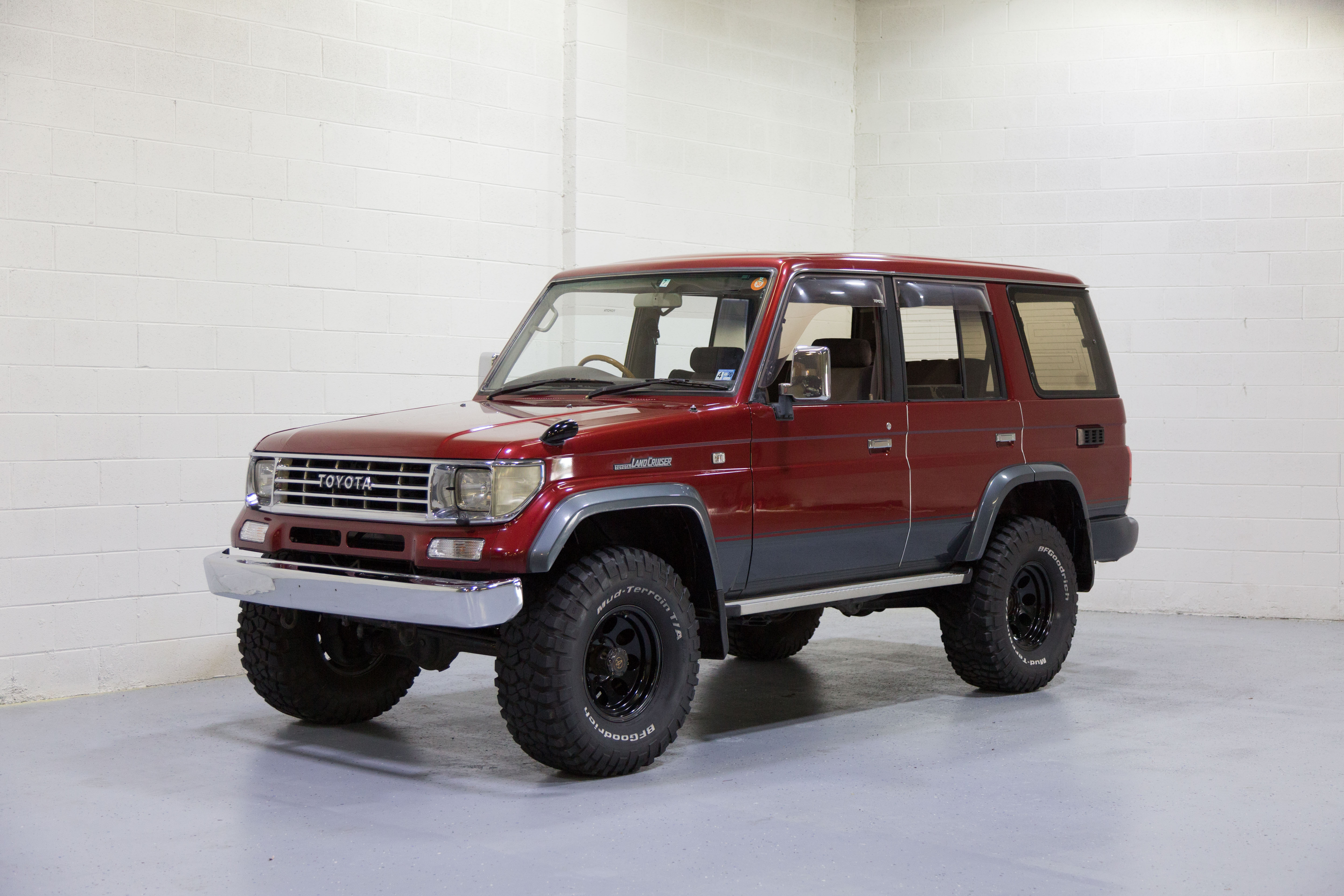 Mint Condition Low Mileage Rhd 1993 Lifted Toyota Land Cruiser Kzj78 Prado In Beautiful Deep Red For Sale In Usa Imported Rhd Cars J Spec Auto Sports