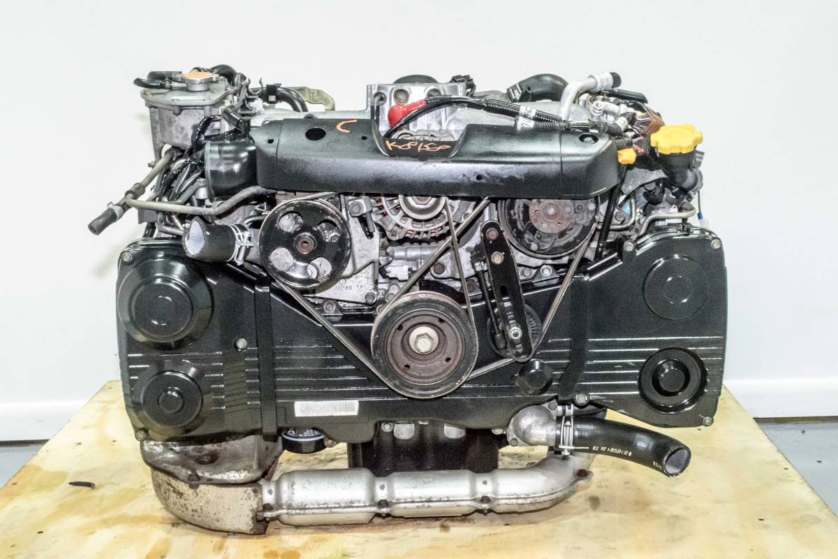 Used Jdm Ej205 Avcs Engine With Tgv Delete Tf035 Turbo And Electrical Throttle Body