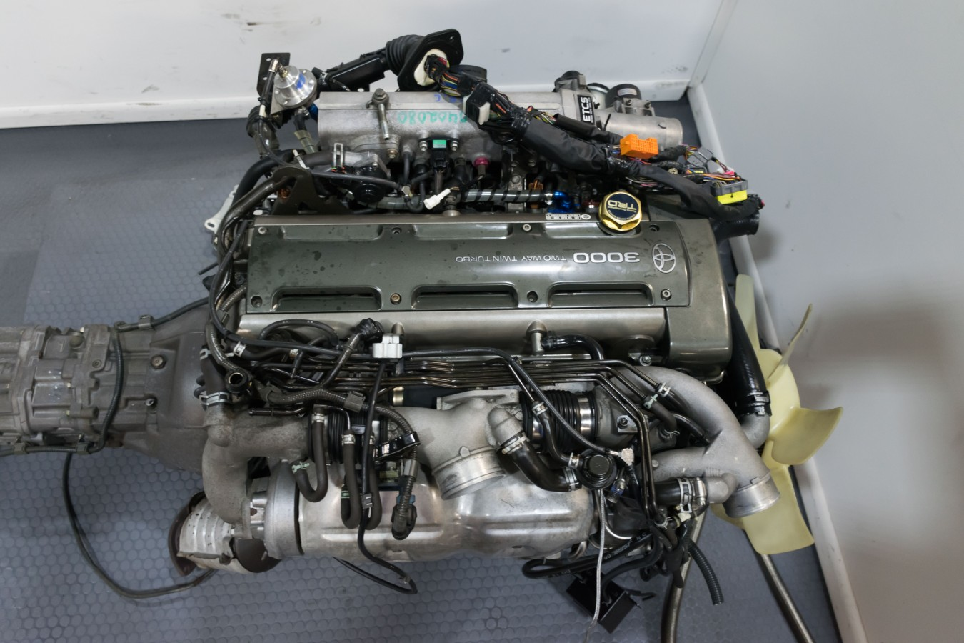 2JZ GTE NON VVTi with V161 6 Speed Transmission ECU and Full Harness Supra  Motor