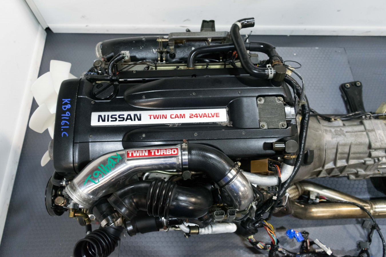 Nissan Skyline R33 Gtr Rb26det Engine With Twin Turbo Harness Ecu Rb26 Wiring