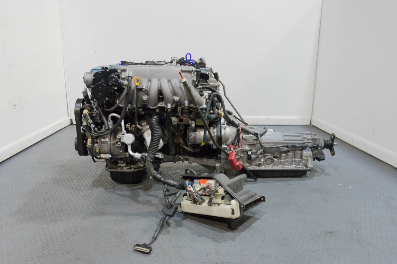 Clean Jdm Toyota Aristo Twin Turbo 2jz Gte Vvti Complete Engine With Harness Ecu Wiring Auto 1187 Dsc 0209