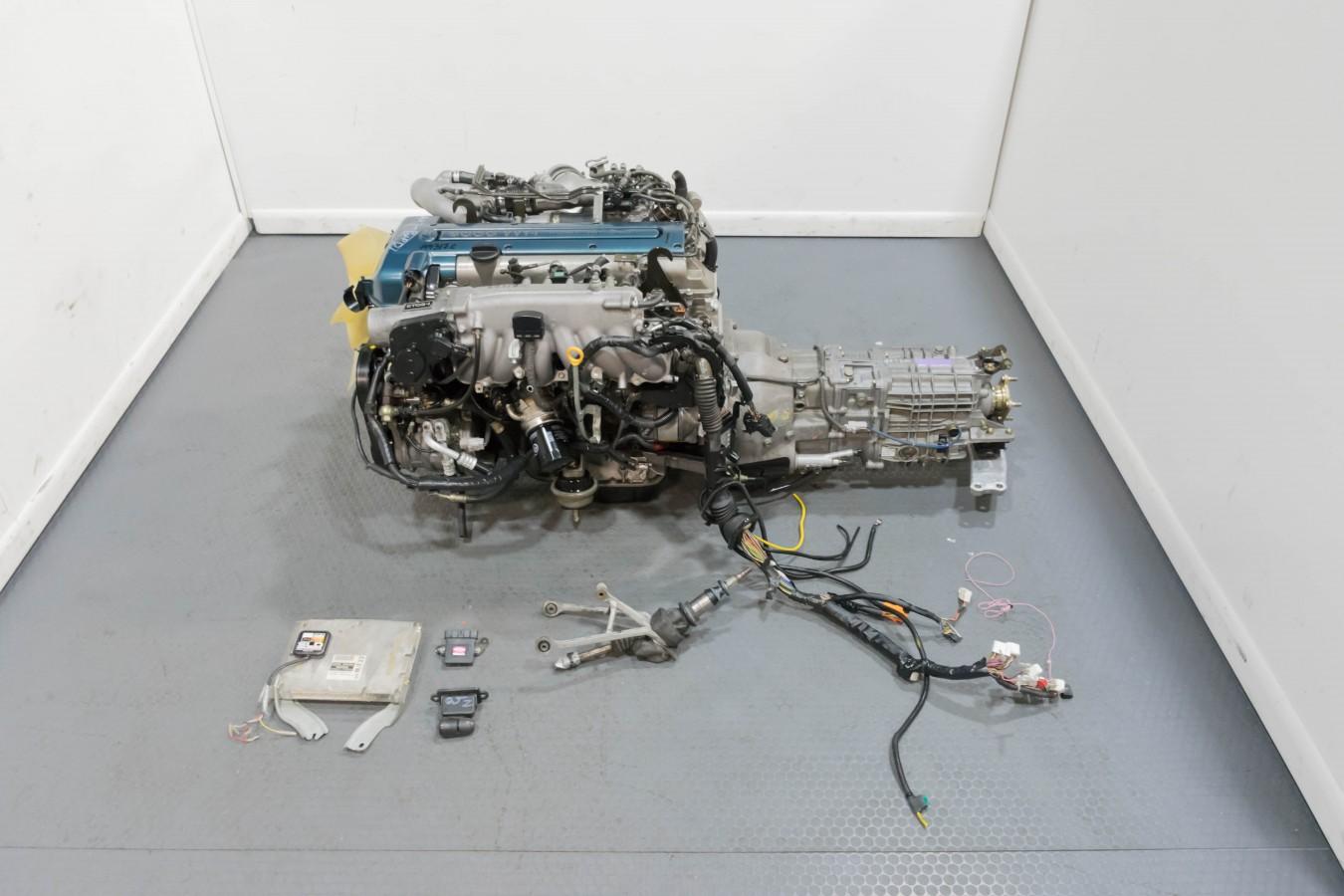 JDM Premium Quality Toyota Supra 2JZ-GTE Twin Turbo VVTi Engine with V161 6  Speed Getrag Transmission