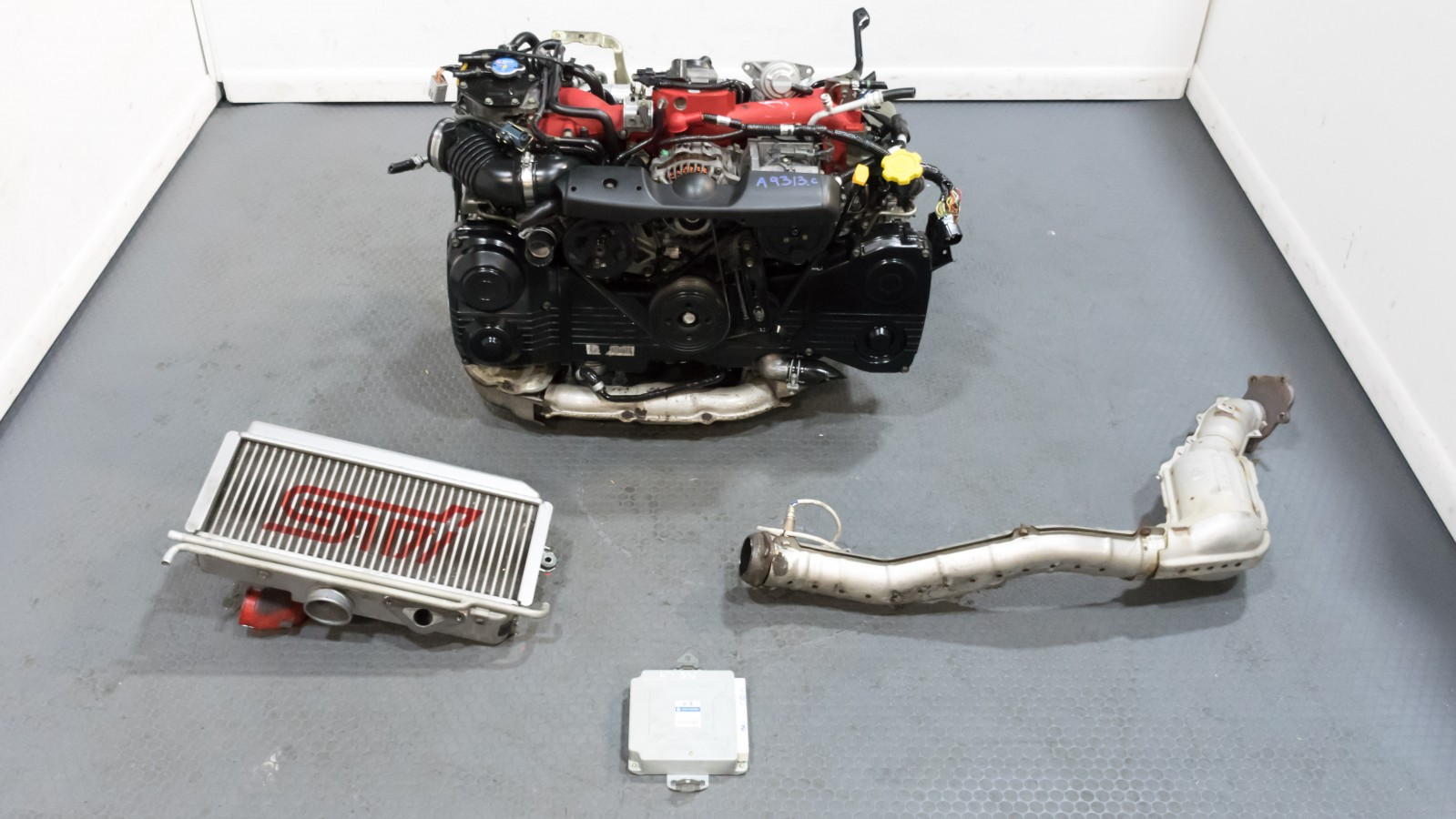 Low Mileage JDM EJ207 Engine with Excellent Compression Test with VF30  Turbo, Intercooler, Downpipe and Ecu for Sale
