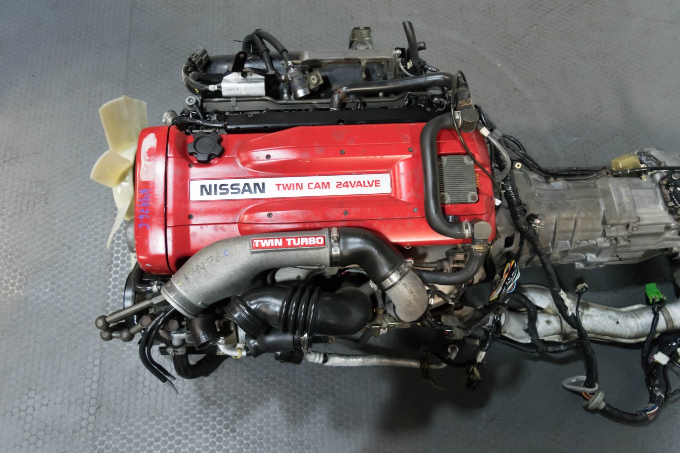 Used jdm Nissan RB26-DETT Engine, transmission with the harness, ecu and  jdm downpipe of a GTR r32 for sale