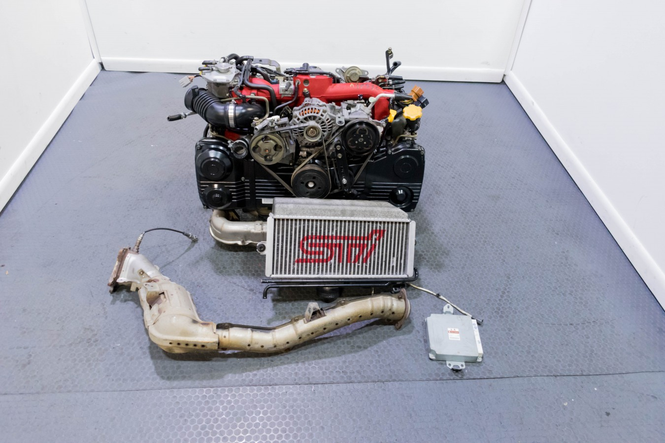 Clean and Compresion tested JDM Ver 8 Subaru EJ207 STI Motor Swap for  2002-2005 Impreza WRX with TMIC, Downpipe and ECU Package for sale