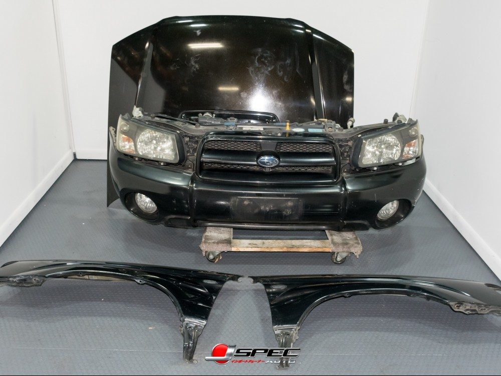 Subaru Forester Xt Turbo Sg5 Nose Cut With Black Housing Hid Headlights