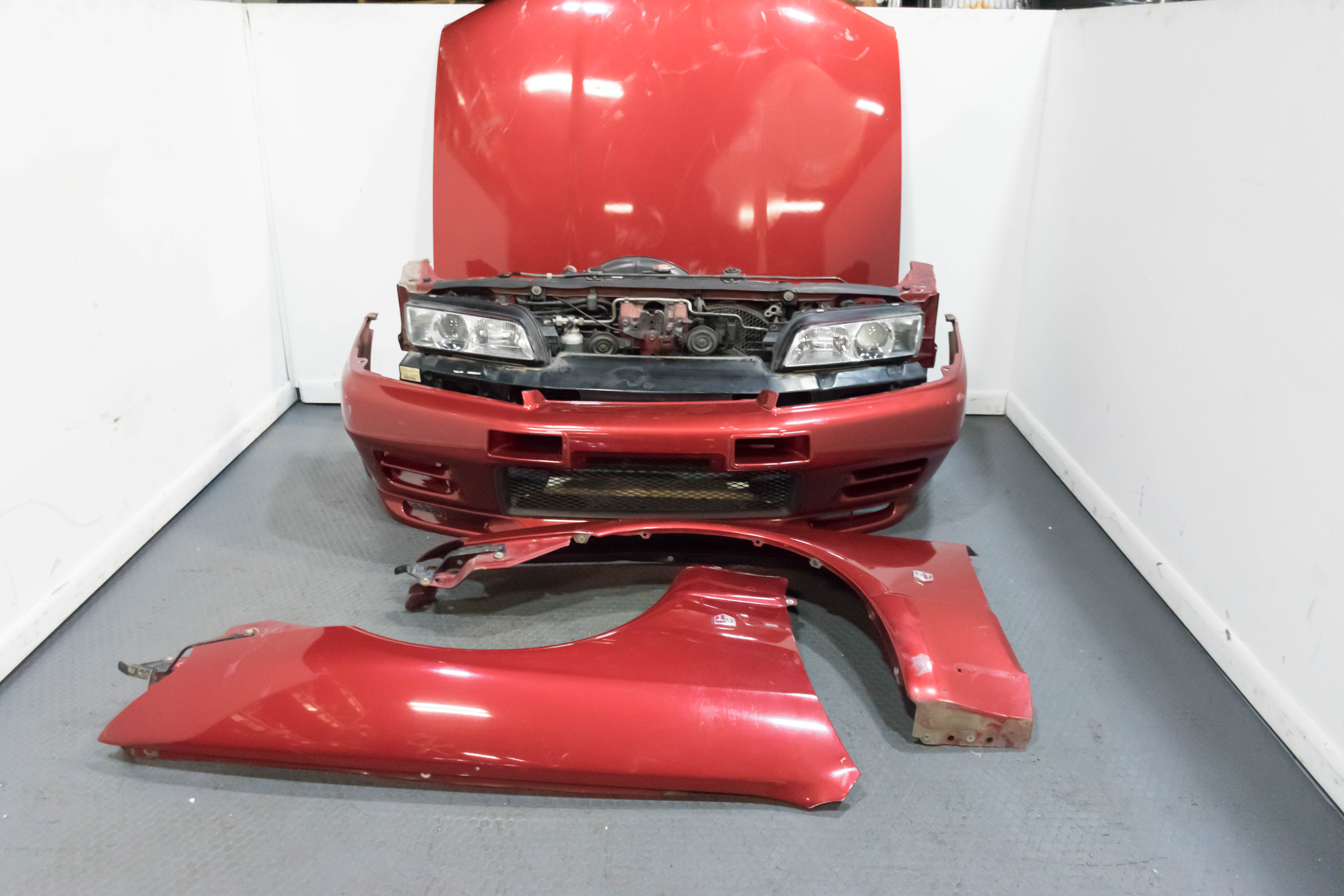 JDM Nissan Skyline GTR R32 Complete Front Clip with Nismo N1 Style Front  Bumper Fenders Hood Headlights