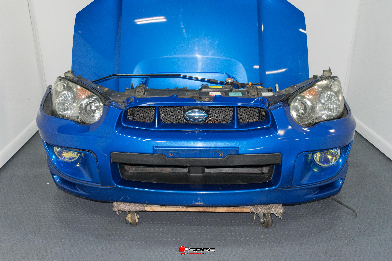 2004 2005 Subaru Impreza WRX STI Clean Front Nose Cut with HID Grill