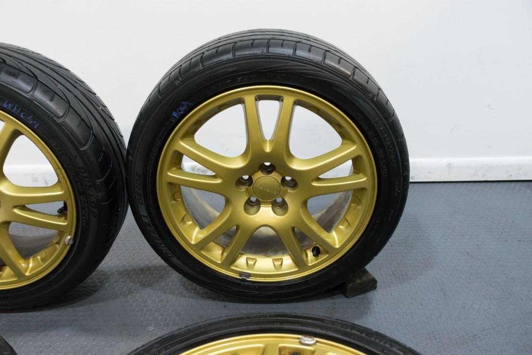 Toyota Of Sanford >> Enkei Version 7 OEM Subaru STi Wheels Gold 5x100 for 2002-2007 WRX | Wheels | J-Spec Auto Sports