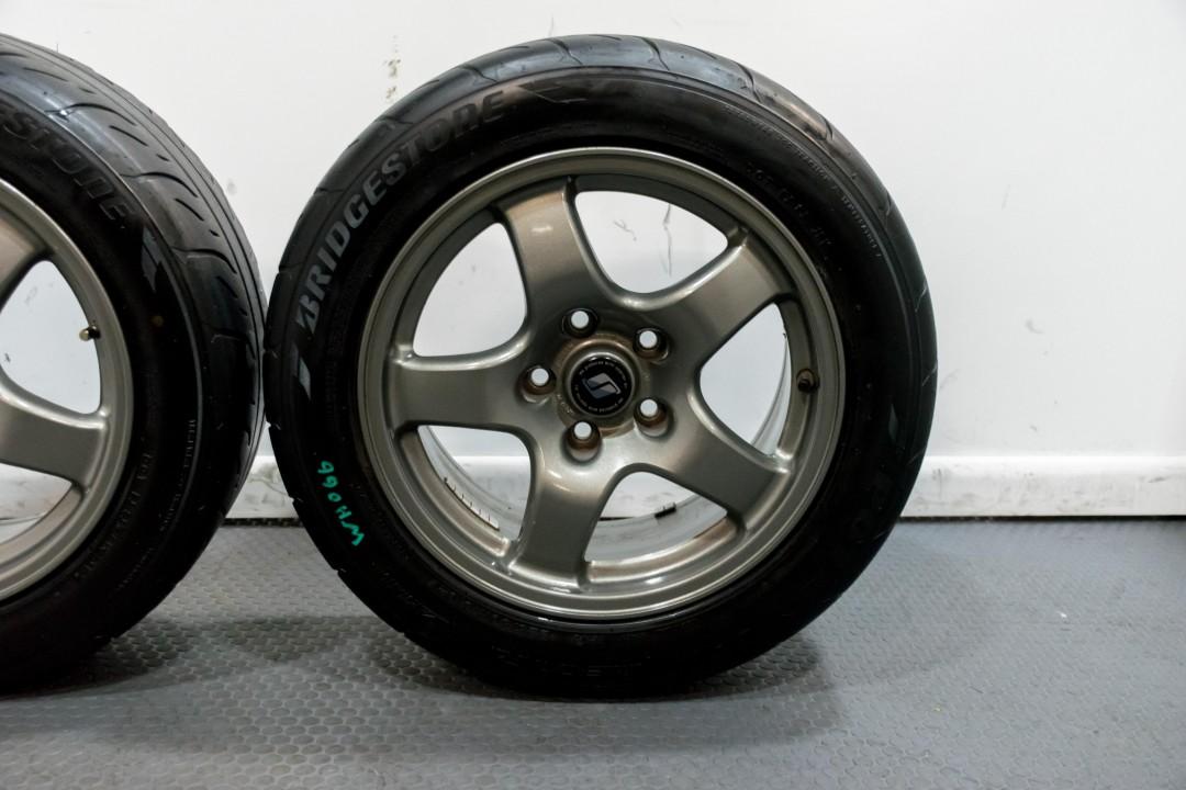 Gtr R33 For Sale Usa >> Nissan R32 GTR OEM Gunmetal Grey Forged Wheels 16x8 for ...