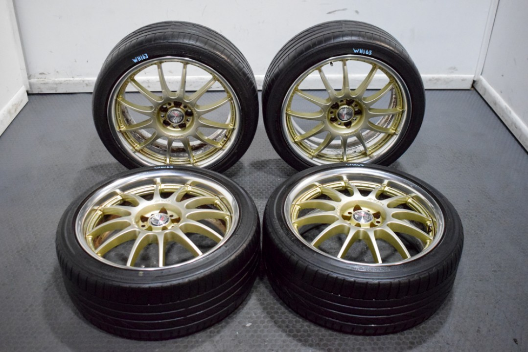 Used Jdm Work Emotion Vsx Xs2 Wheels For Subaru Wrx Fitment 5x100 Forester Sti In Clean Gold Finish Subaru J Spec Auto Sports