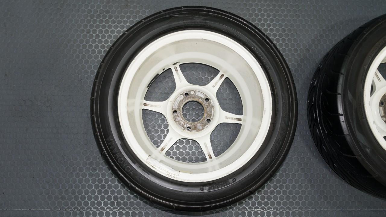 jdm kosei japan buddy club  black  white wheels  staggered offset