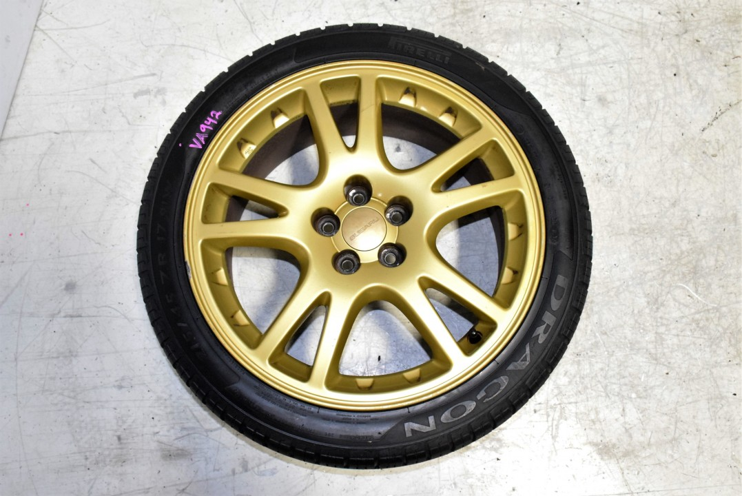 Used Cars For Sale In Usa >> Used JDM Version 7 STi Gold Wheels 5x100 that clear Brembos! 17x7.5 +53 for sale | Wheels | J ...