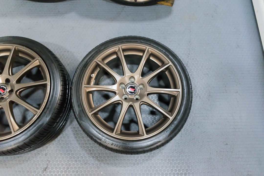 Used Subaru Wrx Sti For Sale >> A Set of four Subaru Impreza 5x100 18x8.5 Bronze Wheels ...