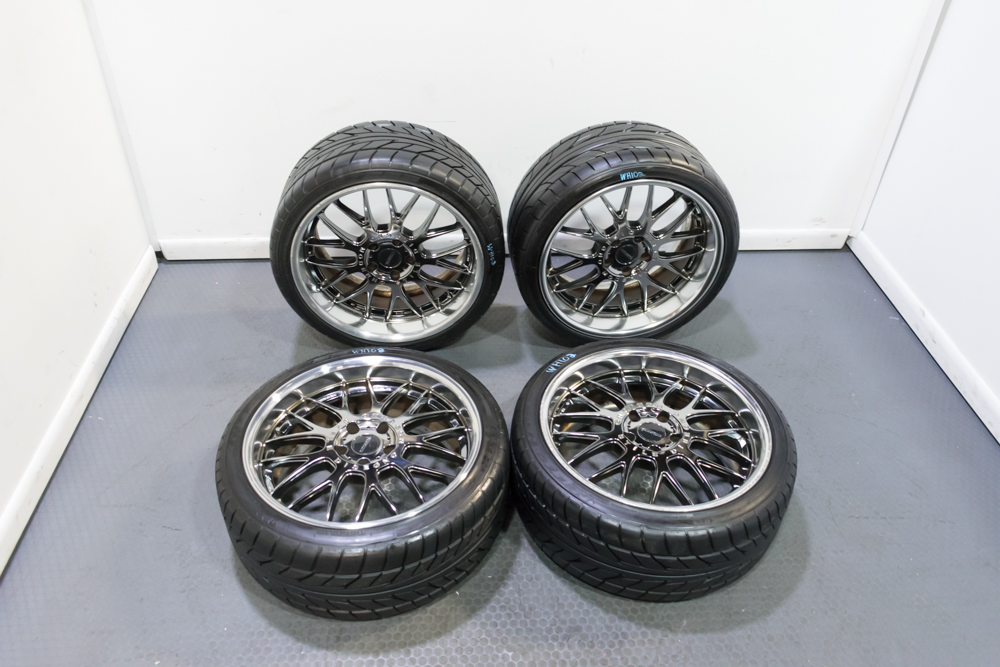 Used Wheels For Sale >> Used Imported From Japan Is A Nice Set Of Fellini Lm9 Staggered Wheels In Gunmetal Polished Lip Finish 19x9 0 19x10 0 37 Offset 5x114 3 Wheels