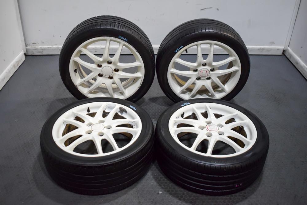used jdm 02 06 honda integra dc5 type r oem 5x114 3 17x7 60 wheels in white for sale wheels j spec auto sports used jdm 02 06 honda integra dc5 type r oem 5x114 3 17x7 60 wheels in white for sale
